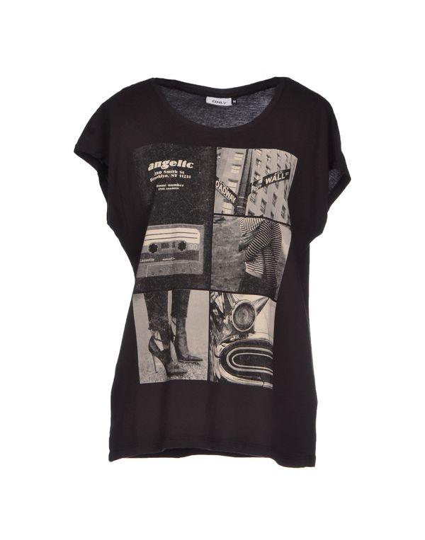 青灰色 ONLY T-shirt