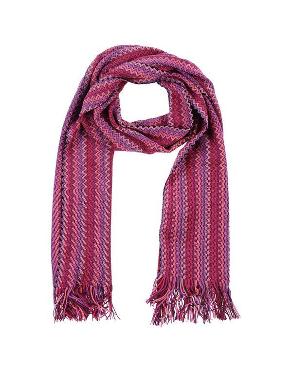 石榴红 MISSONI 围巾