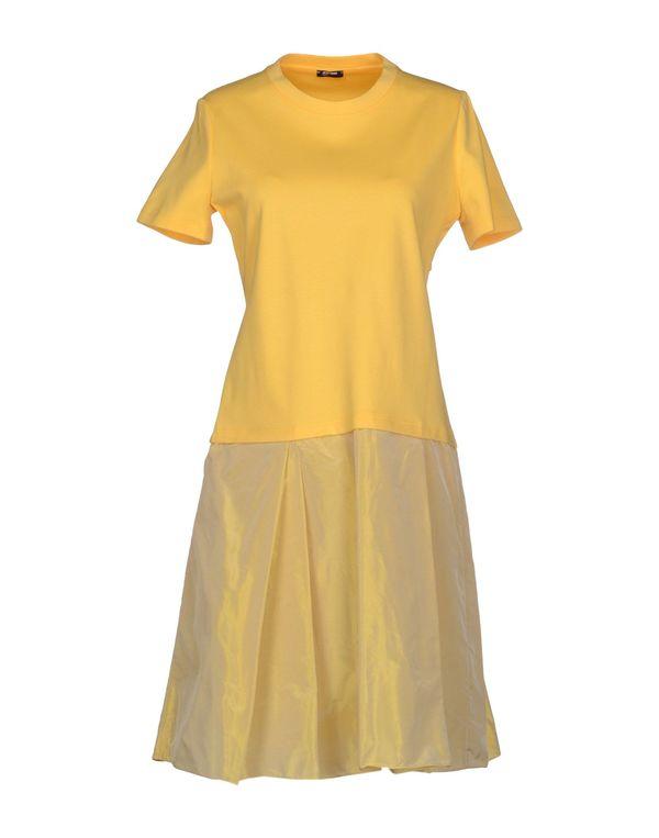 黄色 JIL SANDER NAVY 短款连衣裙
