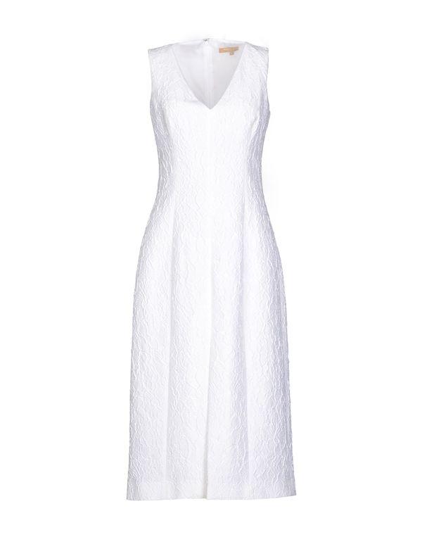 白色 MICHAEL KORS 及膝连衣裙