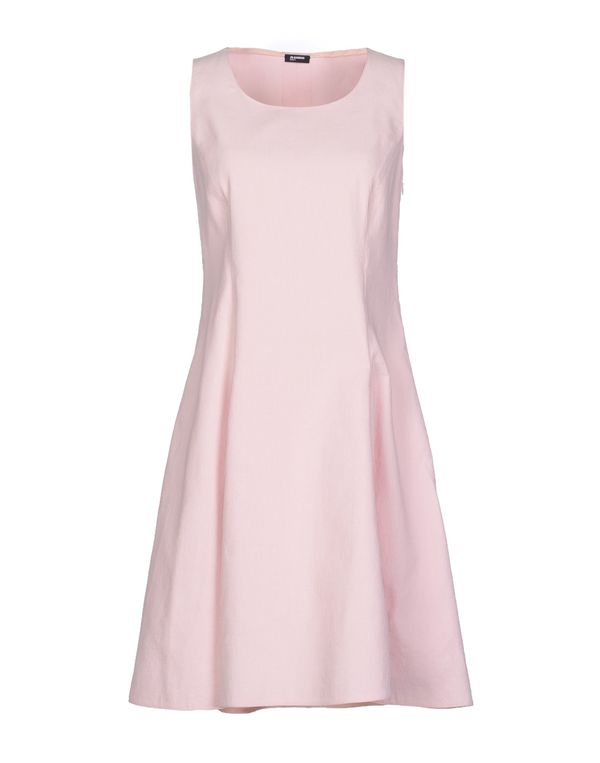 粉红色 JIL SANDER NAVY 短款连衣裙