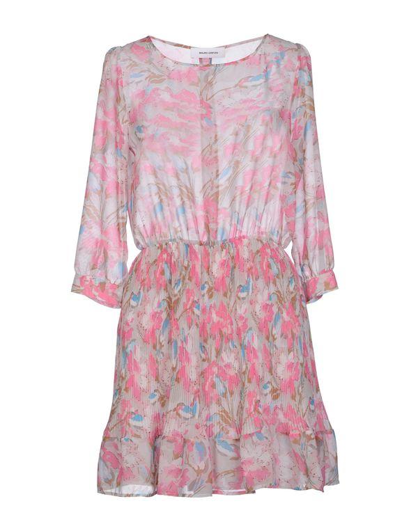 粉红色 MAURO GRIFONI 短款连衣裙