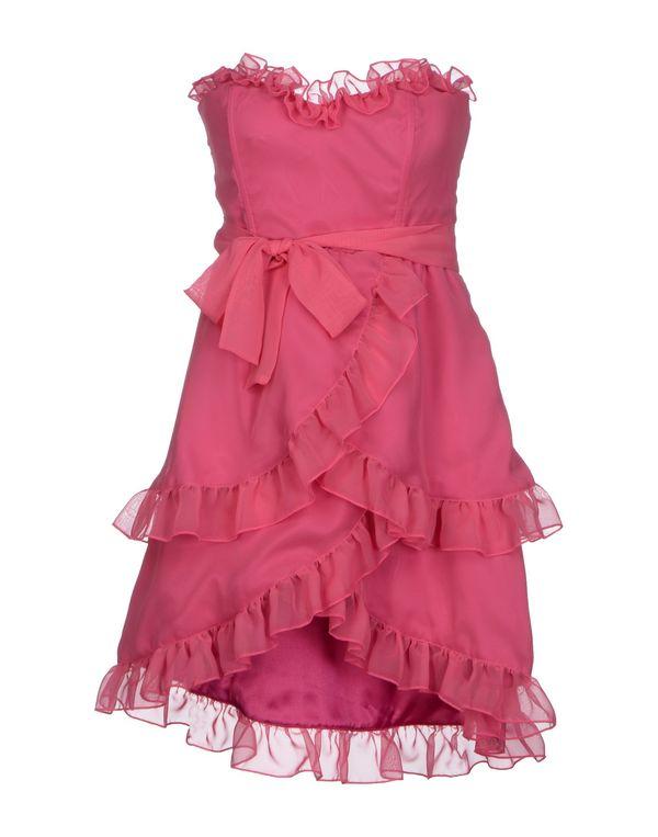 玫红色 PINK BOW 短款连衣裙