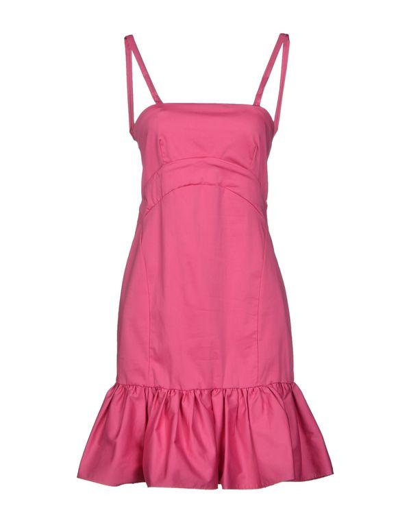 玫红色 PINKO BLACK 短款连衣裙