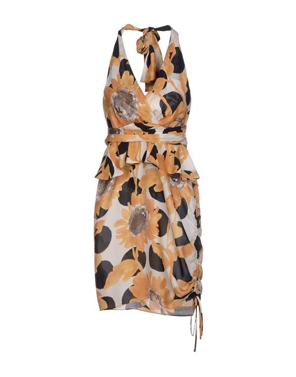 赭石色 MOSCHINO 短款连衣裙