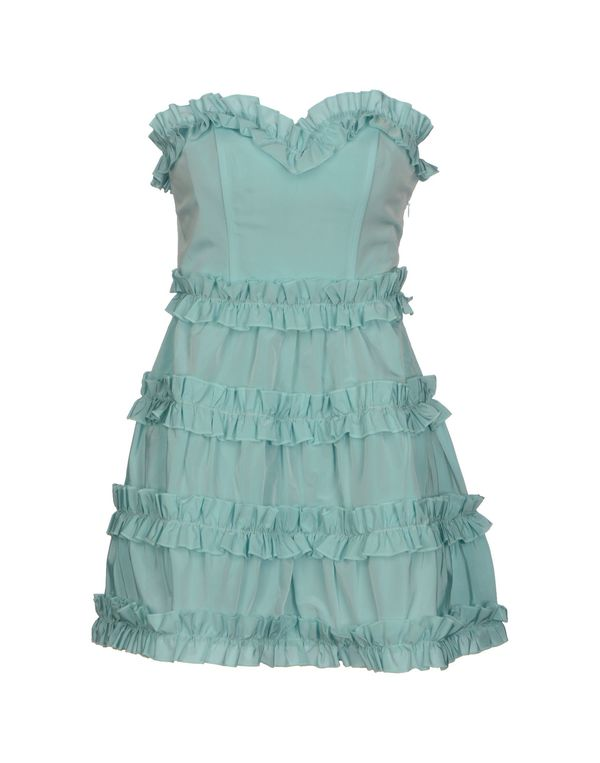 天蓝 PINK BOW 短款连衣裙