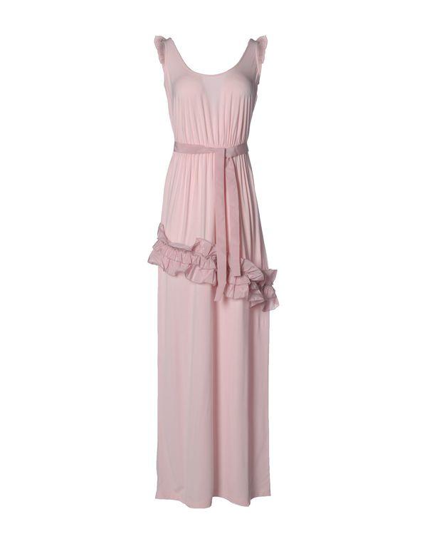 粉红色 PINK BOW 长款连衣裙