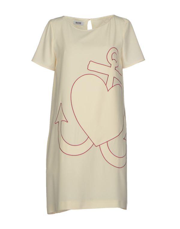 象牙白 MOSCHINO CHEAPANDCHIC 短款连衣裙