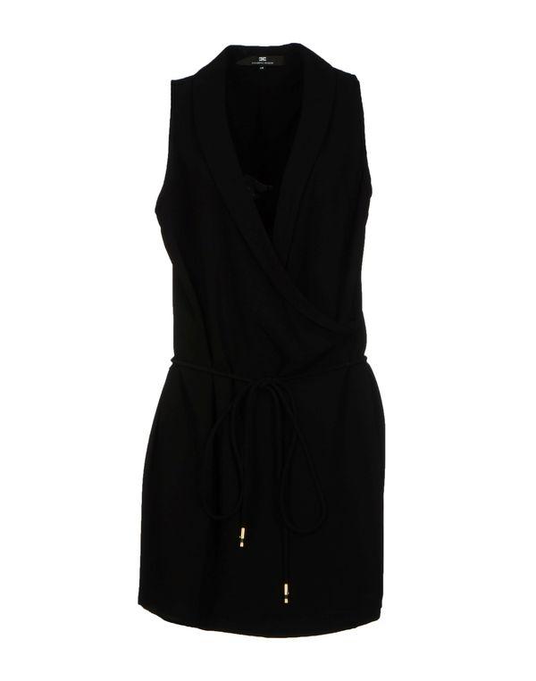 黑色 ELISABETTA FRANCHI 24 ORE 短款连衣裙