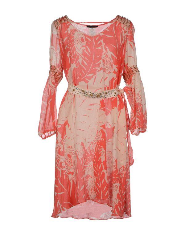 珊瑚红 PINKO SKIN 及膝连衣裙