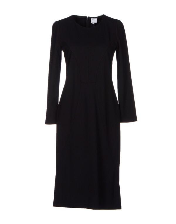 黑色 ARMANI COLLEZIONI 及膝连衣裙