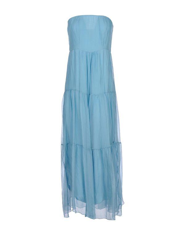 粉蓝色 KAOS 长款连衣裙