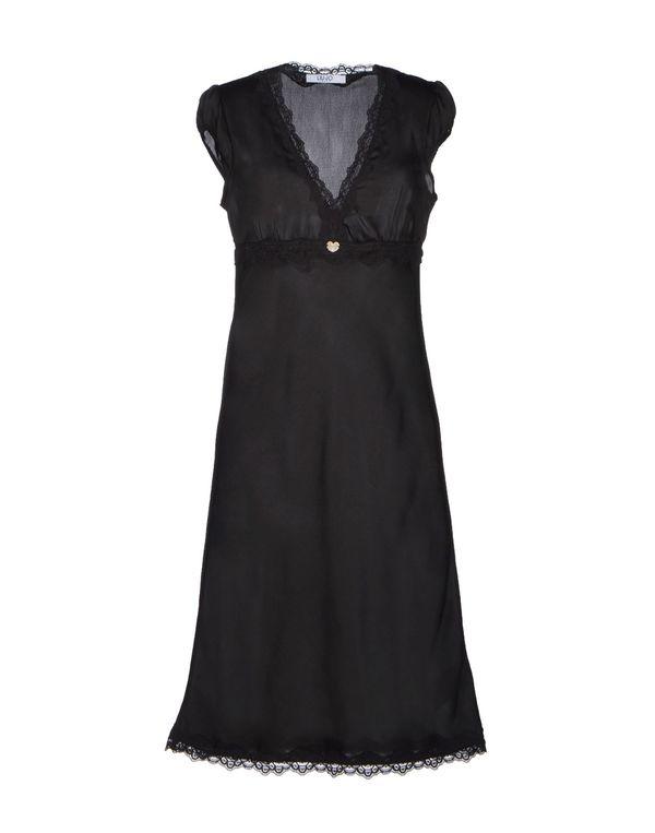黑色 LIU •JO JEANS 及膝连衣裙