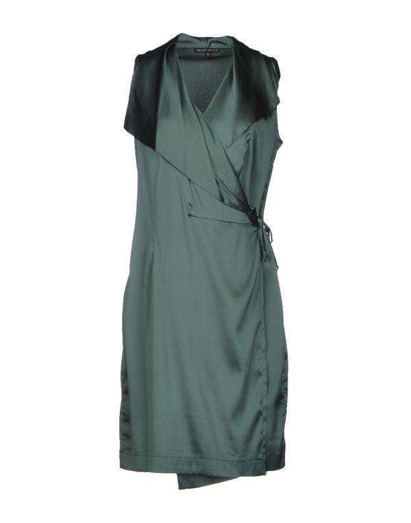 深绿色 BRIAN DALES 短款连衣裙