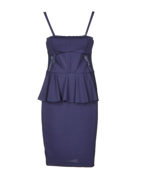 深紫色 PINKO BLACK 及膝连衣裙