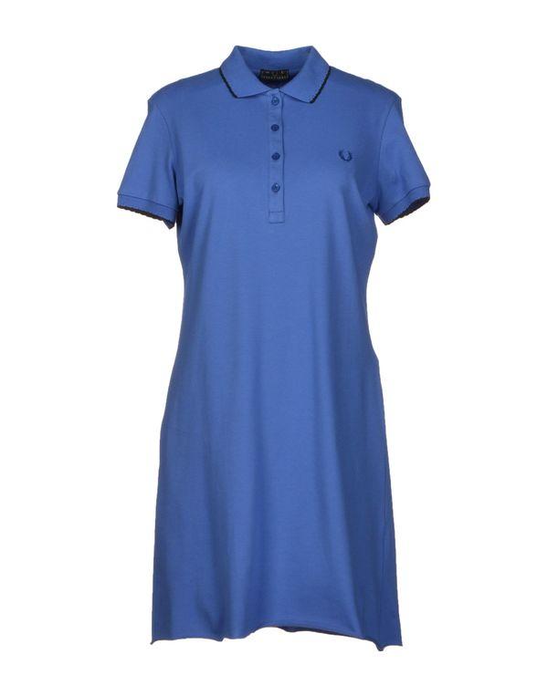 粉蓝色 FRED PERRY 短款连衣裙