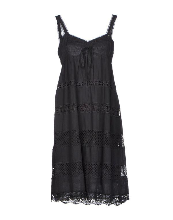 青灰色 AJAY 及膝连衣裙