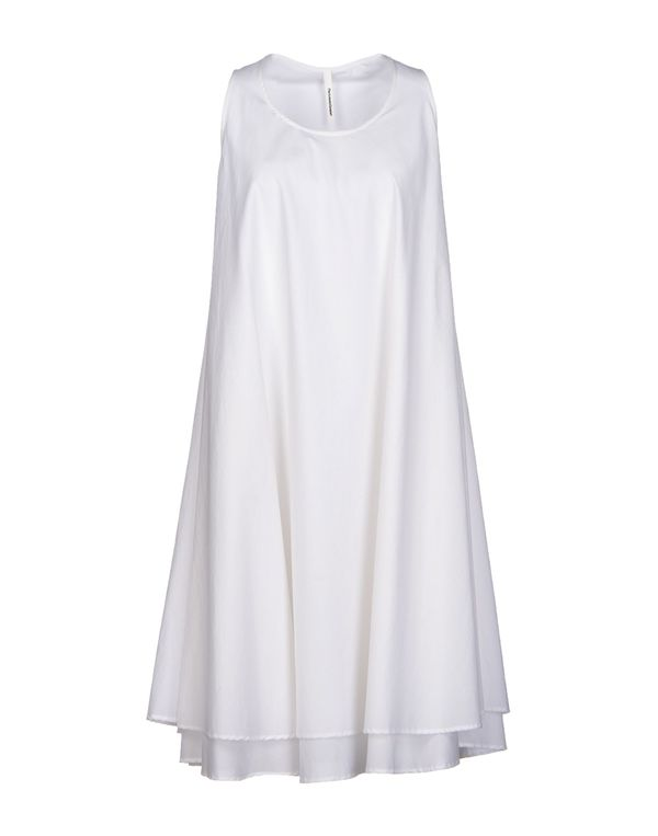 白色 PIERANTONIO GASPARI 及膝连衣裙