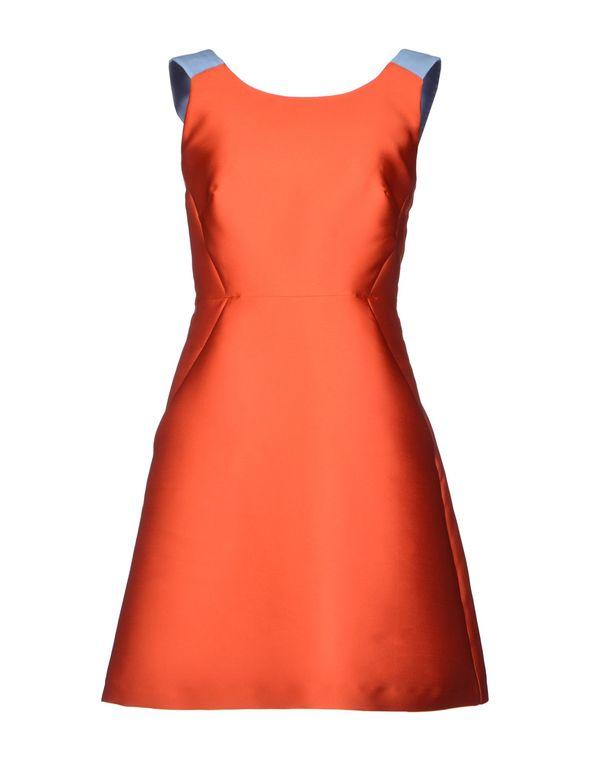 橙色 TARA JARMON 短款连衣裙