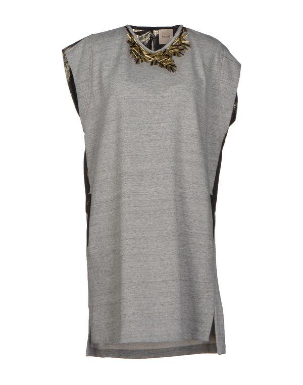 灰色 NUDE 短款连衣裙