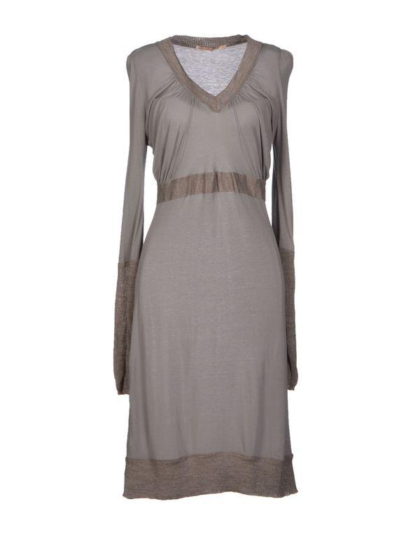 灰色 APPARTAMENTO 50 及膝连衣裙