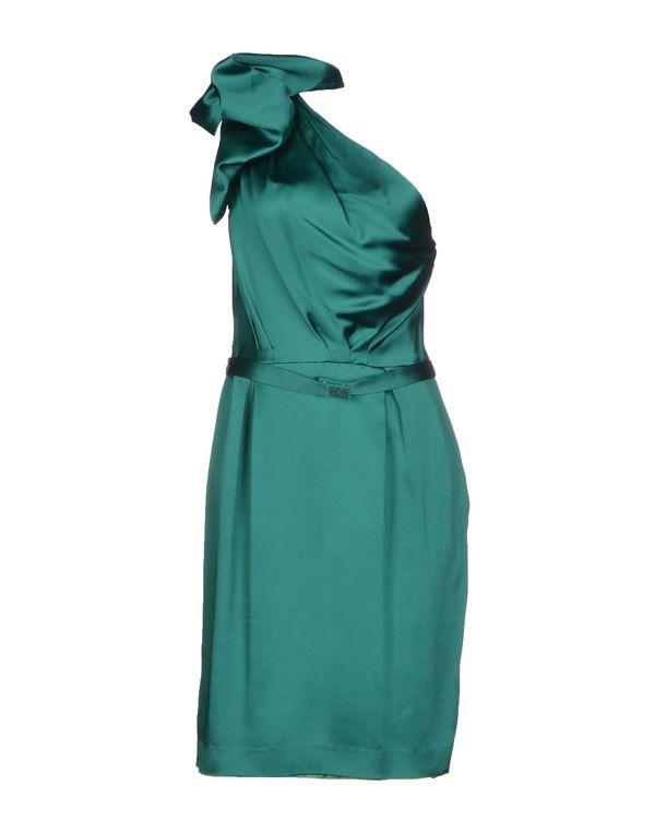 祖母绿 TARA JARMON 及膝连衣裙