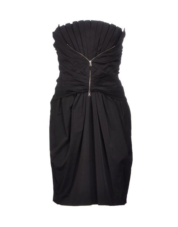 黑色 D.A. DANIELE ALESSANDRINI 短款连衣裙
