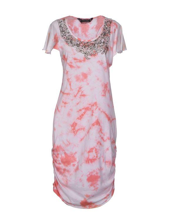 珊瑚红 PATRIZIA PEPE SERA 及膝连衣裙