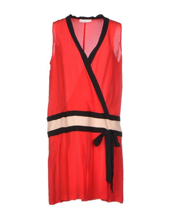 红色 SUOLI 短款连衣裙
