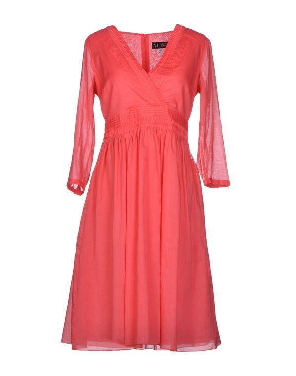 珊瑚红 ARMANI JEANS 短款连衣裙