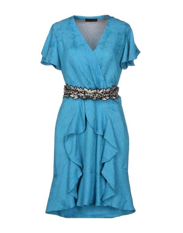 蓝绿色 JO NO FUI 短款连衣裙