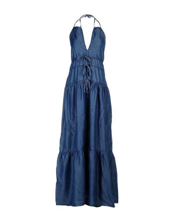 蓝色 LIU •JO JEANS 长款连衣裙