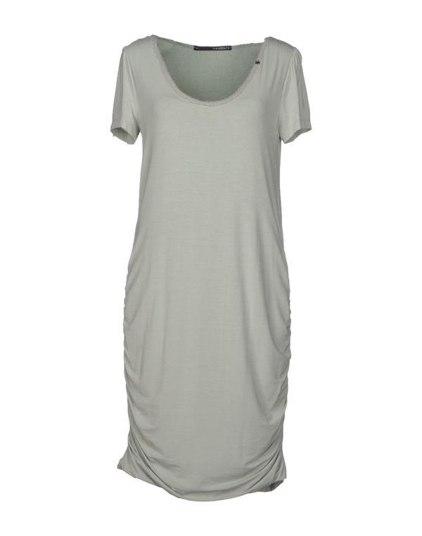 灰色 ANNARITA N. 及膝连衣裙