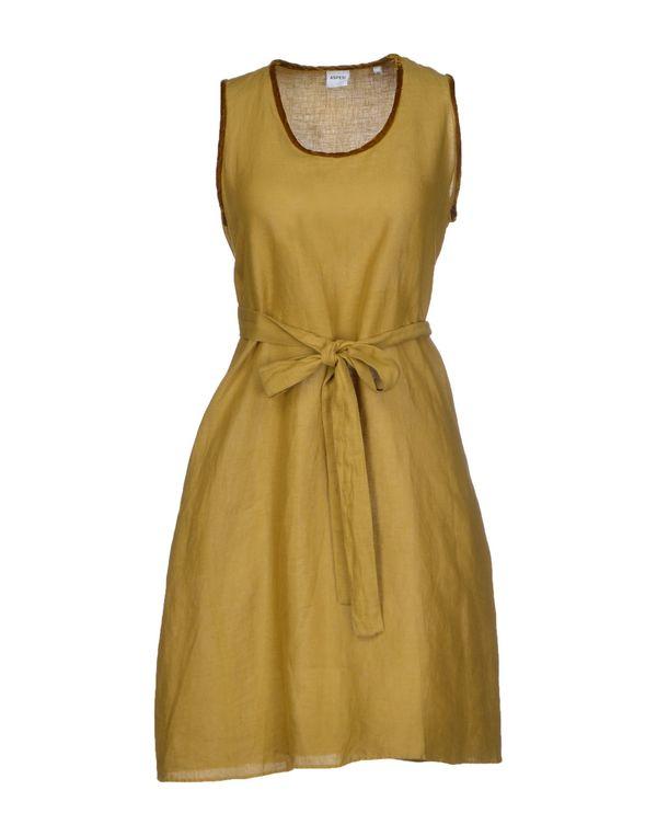 军绿色 ASPESI 短款连衣裙