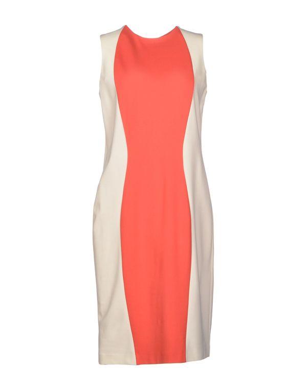 珊瑚红 PIAZZA SEMPIONE 及膝连衣裙