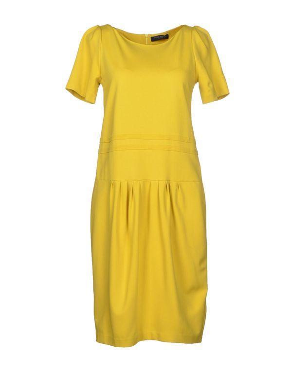 黄色 PIAZZA SEMPIONE 及膝连衣裙