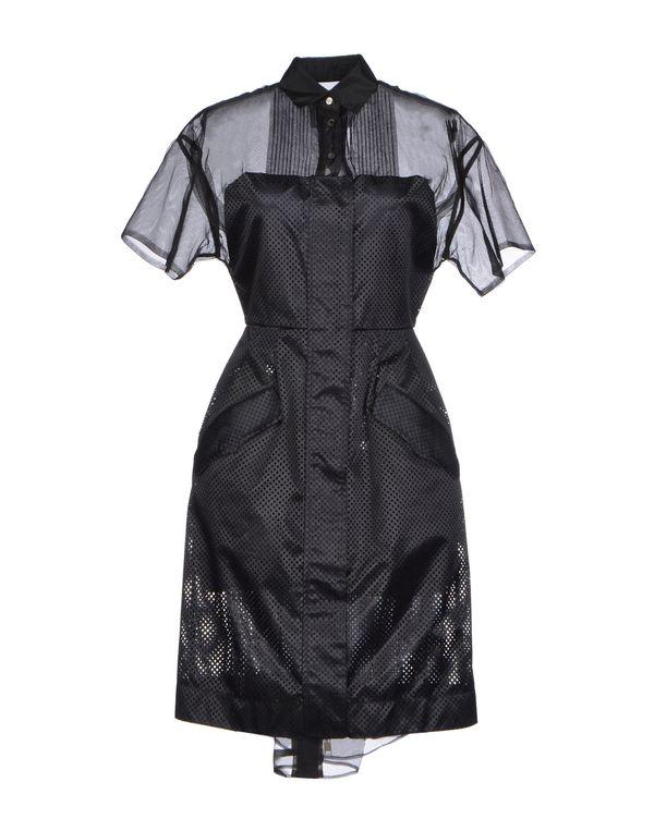 黑色 SACAI 及膝连衣裙
