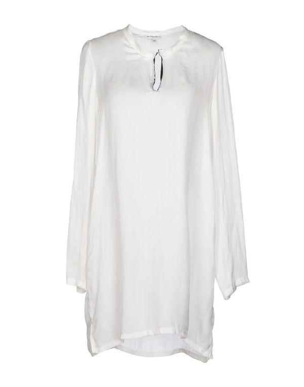 白色 ANN DEMEULEMEESTER 短款连衣裙