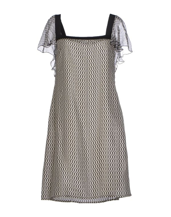 淡灰色 PIANURASTUDIO 短款连衣裙