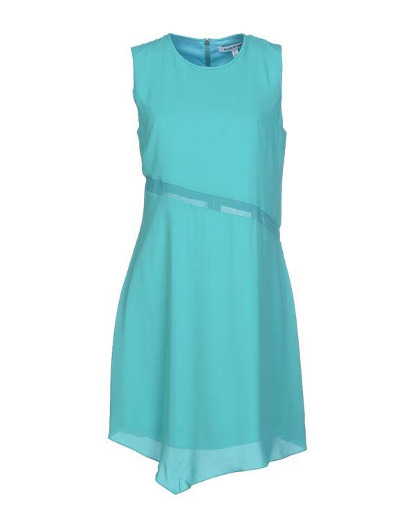 蓝绿色 ELIZABETH AND JAMES 短款连衣裙