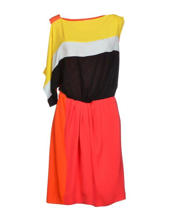 珊瑚红 VIONNET 短款连衣裙