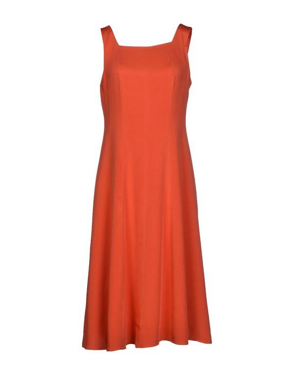 珊瑚红 THEORY 及膝连衣裙