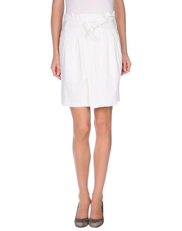 白色 ELIE TAHARI 及膝半裙