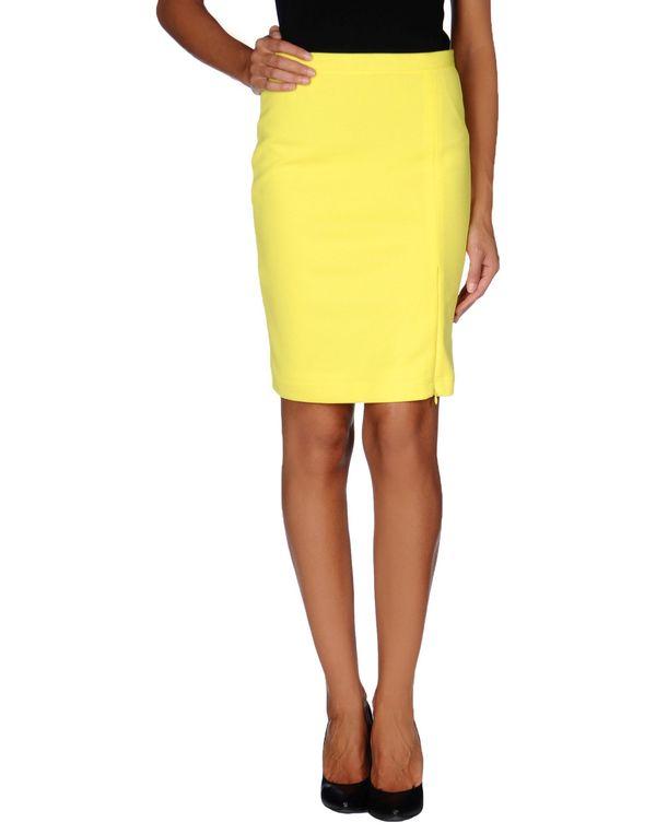 黄色 ONLY 及膝半裙