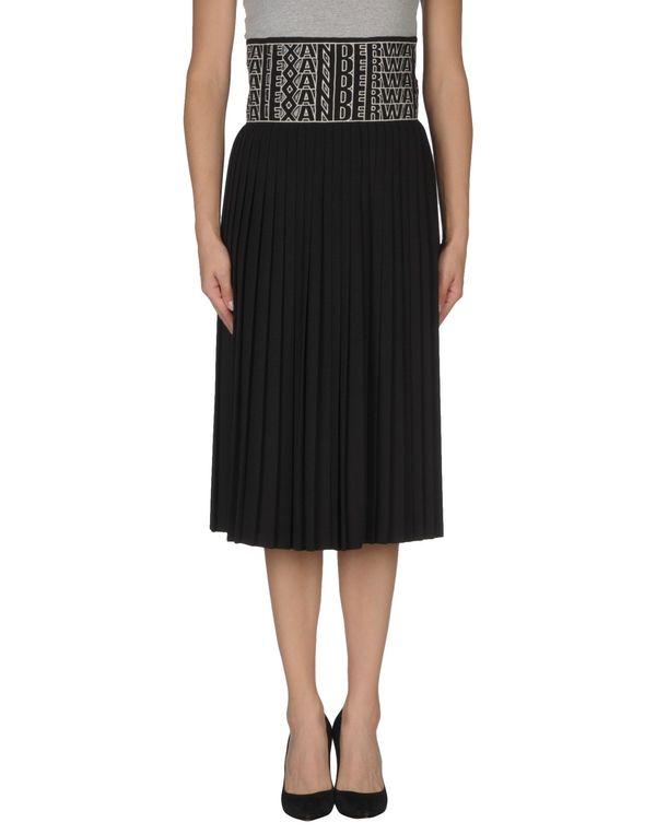 黑色 ALEXANDER WANG 半长裙