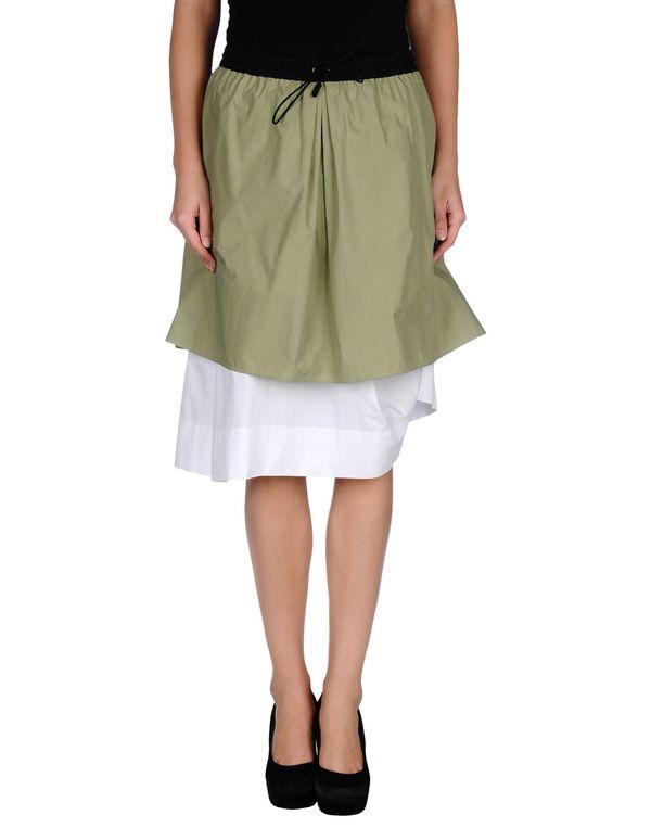 军绿色 CACHAREL 及膝半裙