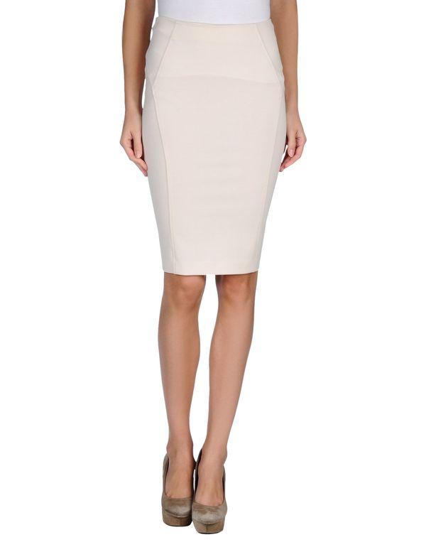 白色 PINKO 及膝半裙