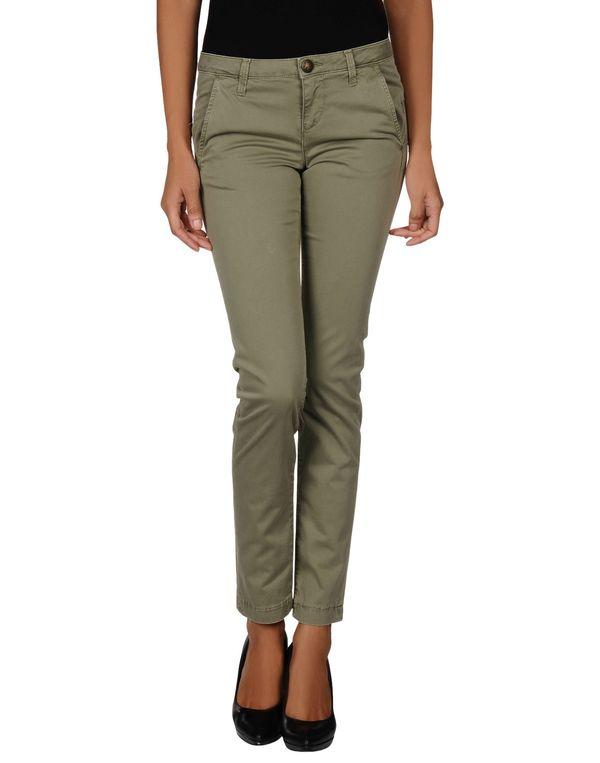 军绿色 GUESS 裤装
