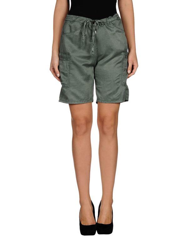 军绿色 TWIN-SET SIMONA BARBIERI 百慕达短裤