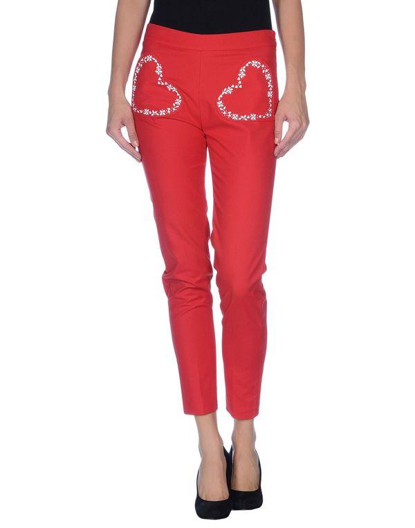 红色 LOVE MOSCHINO 裤装